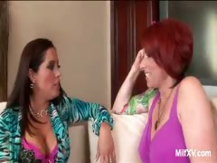 Naughty Lesbians MILFs Going At It
