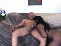 Black Chick Chokes On Some Big Black Cock