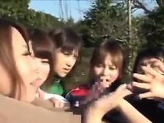 Japanese Girls Sucking Cock Outdoors