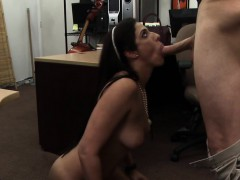 Tall sexy woman gets fucked by the pawnshop owner
