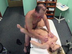 Costumed doctor fucks sexy blonde babe
