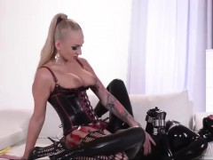 Latex and extremely attractive fetish actions