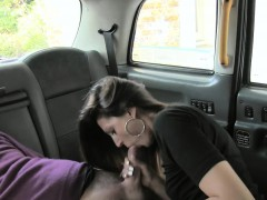 Seductive passenger gets her asshole rammed by the driver