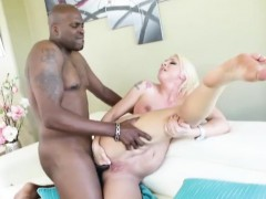Huge tits blonde Leya Falcon ass drilled by jumbo black cock
