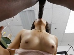 Asian Cutie Milcah Halili Blows A Monster Black Cock