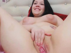 Chubby Teen With Big Puffy Nipples Ponds Pussy