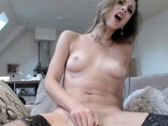 British Hottie Fucking Dildo that Facialized Her
