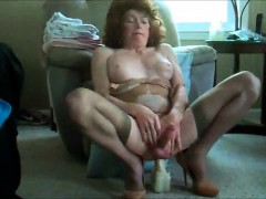 Sexy CD dildo driving