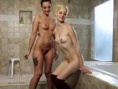 Babes Charlotte And Gia In Hot Lesbo Act
