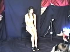 Asian japanese schoolgirl in lingerie mak