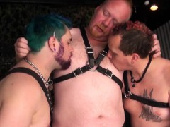 Barebacked Chubby Threeway Cub Takes Cock Atm