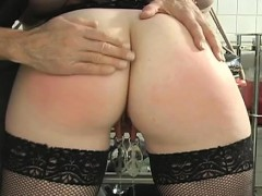 Muffled Whore Gets Sadomasochism Treatment On Her Nice Pussy