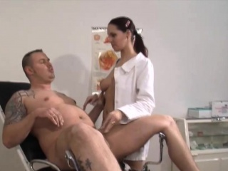 Slutty German nurse sucks and fucks