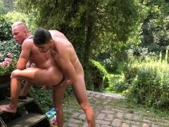 Sexy Stud Enjoying An Outdoor Handjob