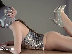 Luxury strapon girl2girl in mask playing