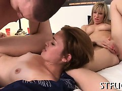 Arousing cock pleasuring