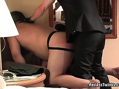 Busty fat guy gets panked and gets his ass wreckd