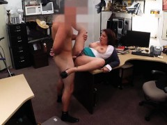 MILF sells husbands sports cards n give pawnshop owner a bj