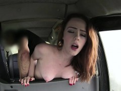 Horny blonde tourist gets drivers dick