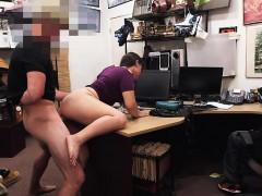 Desperate lesbian tries stiff cock