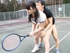 Sweet-looking asian chick widens legs and acquires fingered