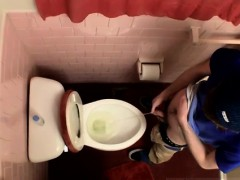 Gays penis hairy Unloading In The Toilet Bowl