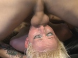 Short Haired Blonde Bimbo Getting Her Face Roughly Fucked