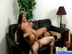 Giant titty brunette