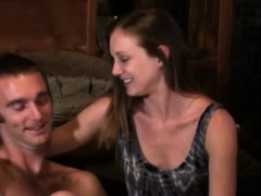 Hot couple fucks by the fireplace