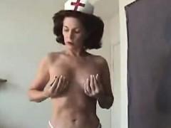 Recreational mature girl dressed as a nurse sucks cock