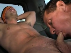 Sensual gay blowjob movies and boobs sucking in public movie