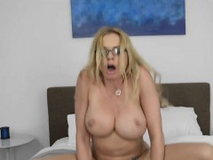 Busty MILF Briana Banks Gets Impaled By Messenger