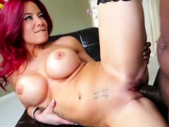 Petite big tits Ryder Skye in nylon stockings gets fucked
