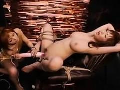 Helpless Oriental beauty has a wild lesbian mistress drilli