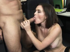 Office Slut In Black Stockings Fucked Krissy Lynn