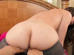 Big Tits MILF In Blaco Stocking Hot Molly Jane
