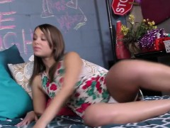 Tiny Teen Liza Rowe Enjoys Threesome with BBCs