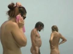 Nude beach voyeur spyes on sexy girls hidden beach spy cam