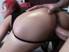 Horny redhead sucks cock before getting fucked
