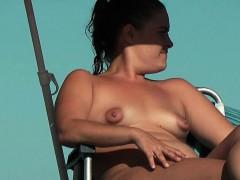 Nudist beach with horny naked women voyeur video