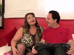 Big boobed Asian plumper Miss LingLing sucks a long and