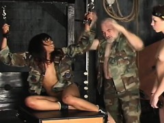 Bare woman thraldom at home with horny man