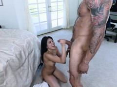 Tiny Asian Ember Snow destroyed by a giant dick