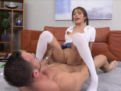 Cute galscout gets fucked hard by her horny stepdad