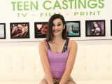 Brutal casting audition for tattooed beauty