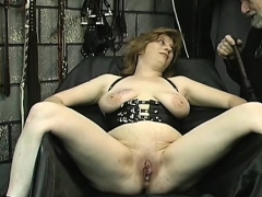 Large boobs babe hard drilled in bondage xxx scenes