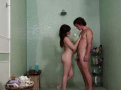Alison Rey oils up her client and rides his cock