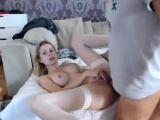 Big boobs Britney Brighton blowing a strangers big cock