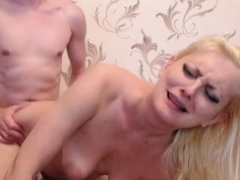 Blonde Babe Gets Facial After Doggie And Cowgirl Sex