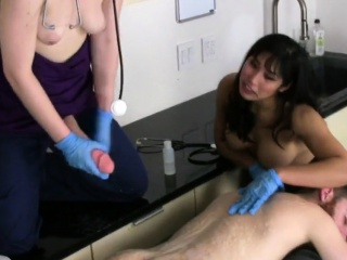 Nymphos plow men butt hole with monster strap-ons and squirt